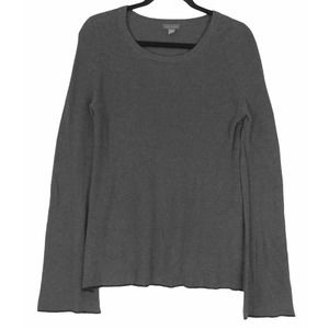 Vince Camuto sweater gray tipped bell sleeve